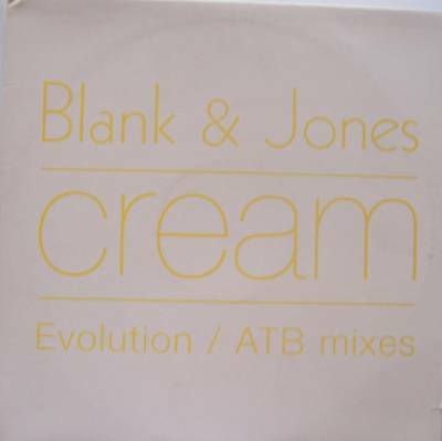 "BLANK & JONES ~ Cream ~ 12"" Single PS"