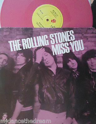 """ROLLING STONES ~ Miss You ~ 12"""" Single PS PINK VINYL"""