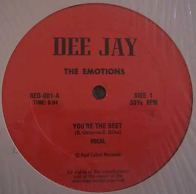 "THE EMOTIONS ~ Youre The Best ~ 12"" Single USA PRESS"