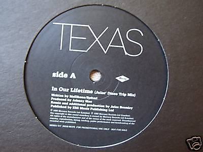 "TEXAS - In Our Lifetime ~ 12"" Single PROMO"