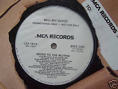 "BELL BIV DEVOE - Word To The Mutha -US PRESS 12"" PROMO"