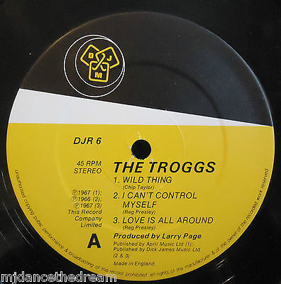 "THE TROGGS ~ Wild Thing ~ 12"" Single"