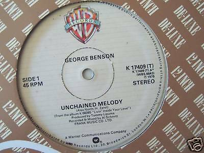 """GEORGE BENSON ~ Unchained Melody ~ 12"""" Single"""