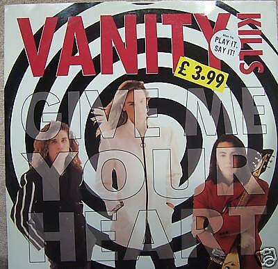 "VANITY KILLS ~ Give Me Your Heart ~ 12"" Single PS PROMO"