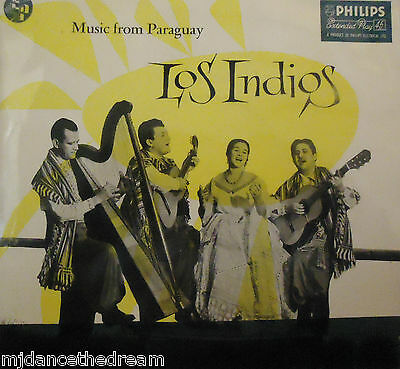 "LOS INDIOS - Music From Paraguay EP ~ 7"" Single PS"