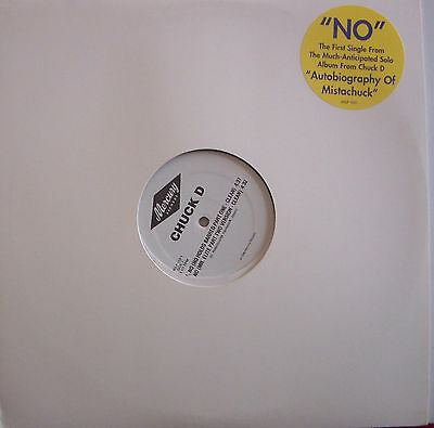 "CHUCK D ~ No ~ 12"" Single USA PRESSING"
