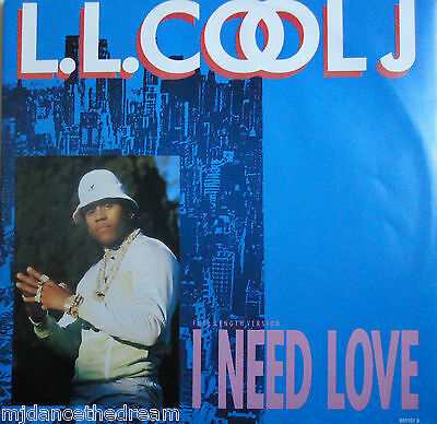 "LL COOL J ~ I Need Love ~ 12"" Single PS"