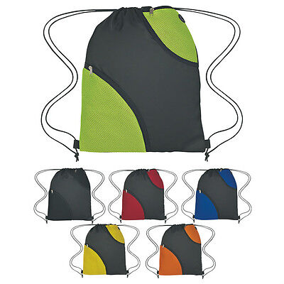 100 DRAWSTRING BACKPACKS With Two Soft Mesh Pockets - MORE PRODUCTS IN OUR STORE