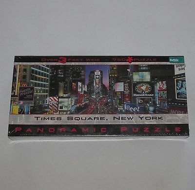 New Times Square New York Panoramic 750 pc Jigsaw Puzzle buffalo games 3' wide