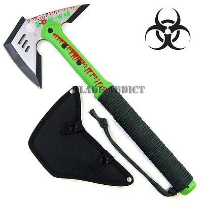 """16"""" ZOMBIE SURVIVAL CAMPING TOMAHAWK THROWING AXE BATTLE Hatchet hunting knife-M"""