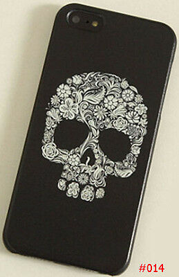 New Flower Skull Colored Drawing Eye Hard Back Skin Case Cover for Iphone 5S
