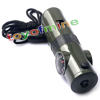 Multi-function Survival Whistle Torch Life Saving Tool Outdoor Camping Hiking