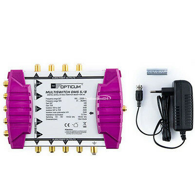 Opticum OMS 5/8 Gold Line Multi Switch 1 Satellite - 8 Subscribers