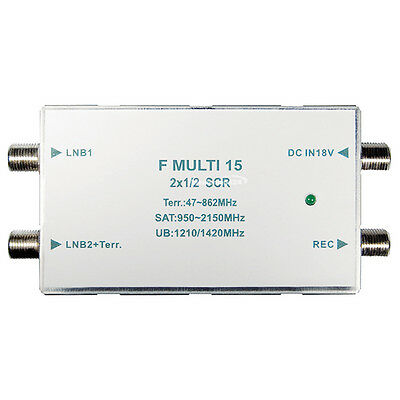 Transmedia Unikabel Multiswitch 2x1/2 Unicable SCR Multiswitch