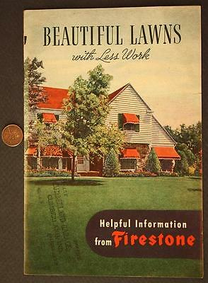 1946 Cumberland,Indiana Firestone Tires Beautiful Lawns illustrated booklet-NICE