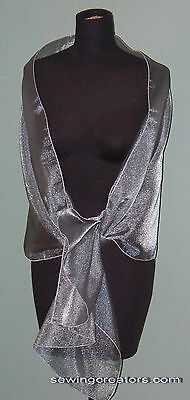 Sheer Silver Evening Wrap Bridal Shawl Formal Prom By SewingCreators