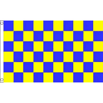 150cm x 90cm Flag Banner Surrey Blue And Yellow Check 3ft x 2ft