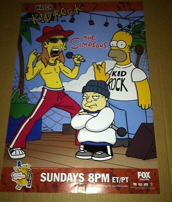 KID ROCK & THE SIMPSONS 2000 PROMO POSTER For History of  CD Never Displayed