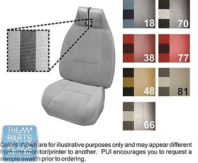 80-81 Camaro / Berlinetta Custom Vinyl Oyster Bucket Seat Cover & Coupe Rear PUI
