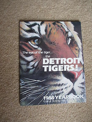 1988 Detroit Tigers Autographed Yearbook 44 Autographs  Sparky Kaline Harwell