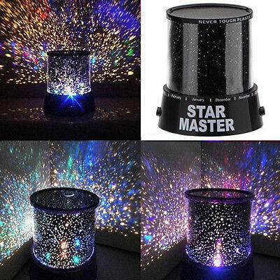 Romatic Cosmos Sky Star Master Projector LED Starry Night Light Lamps Baby Gift