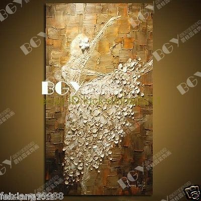 hand painted modern ABSTRACT LANDSCAPE oil painting art(no framed)