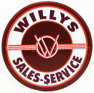 Willys Jeep Tin Sign Military Metal Sales And Service Man Cave Shop Garage Pub