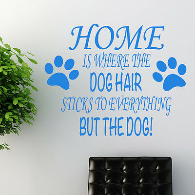 Dog wall sticker art decal transfer pet grooming quote w163
