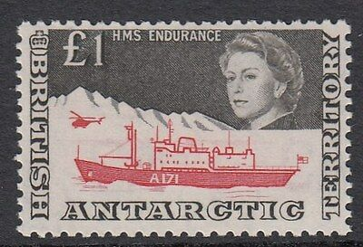 BRITISH ANTARCTIC TERRITORY : 1969 £1 HMS Endurance SG15a never-hinged mint