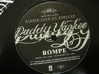 "Daddy Yankee Rompe 12"" Record"
