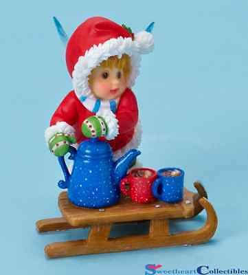 My Little Kitchen Fairies Girl With Cocoa On Sled 4018032