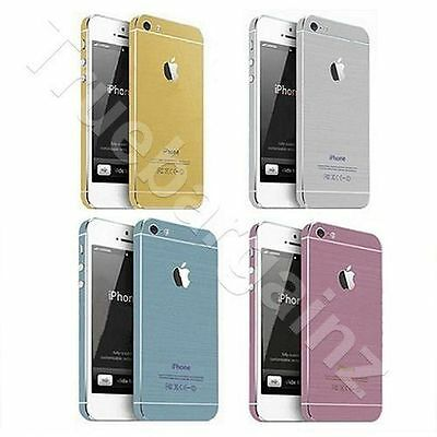 iPhone SE 5 5S Full Body Wrap Decal Sticker Skin Color Metallic Gold Blue