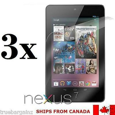 3X Clear Screen Protector for Google nexus 7