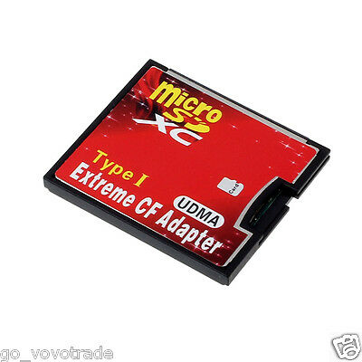 Micro SD TF SDHC To Type I 1 Compact Flash Card CF Reader Adapter UDMA Stylish