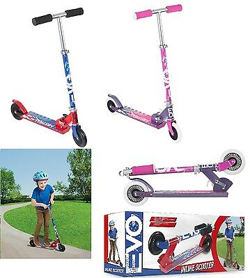 Evo Children Folding Scooter With Adjustable Handle Easy Grip Girl Or Boy Age5+