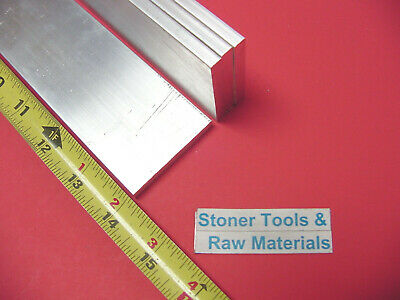 "4 pieces 1/4"" X 2"" ALUMINUM 6061 FLAT BAR 14"" long T6511 .25"" Mill Stock"