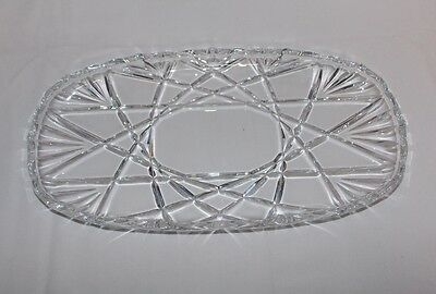 Mikasa Roxborough Crystal Clear Glass Long Oval Serving Dish Platter