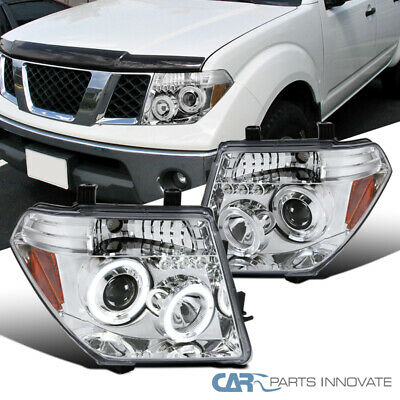 For Nissan 05-08 Frontier 05-07 Pathfinder LED Halo Projector Headlights Chrome