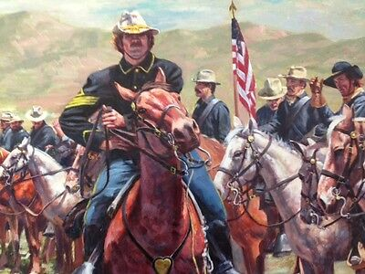 """""""Top"""" Don Stivers Signed Limited Edition Print - U S Cavalry"""