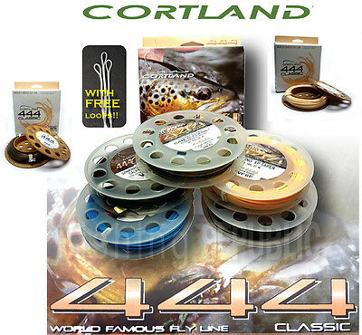 Cortland 444 Classic Fly Lines - All Densities - Includes 3x FREE Leader Loops
