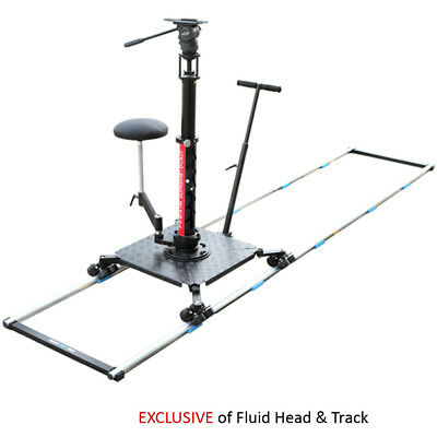 Supreme camera Dolly with seat for straight flexi track  load 20 kg 44lbs