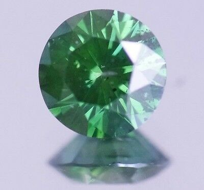 0.50 Carats Fancy Green Color Enhanced Loose Round Diamond for Ring ASAAR DEAL