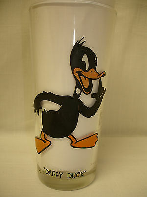 1973 PEPSI COLLECTOR SERIES WARNER BROS DAFFY DUCK GLASS 39 YRS OLD EXCEL COND