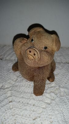 """Mark Chinese Pottery:  3"""" X 2.5"""" X 2.25"""" CUTE PIG with clear mark 150203023"""