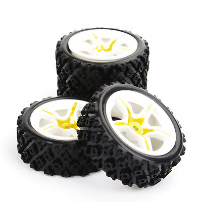4x Rally Racing Tyre 1/10 RC Off Road Car Vehicle Tyres Wheel Rim A63NWG+ PP0487
