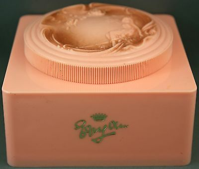 Vintage Ivy Ann Pink Powder Box-Original Powder Puff
