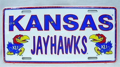 Kansas Jayhawks Aluminum License Plate Car Truck Tag Basketball Football NCAA KU