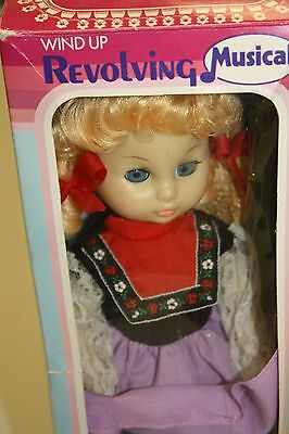 """Rare """"miss Germany""""  International Lotus Doll With Secret Bank Musical Wind Up"""
