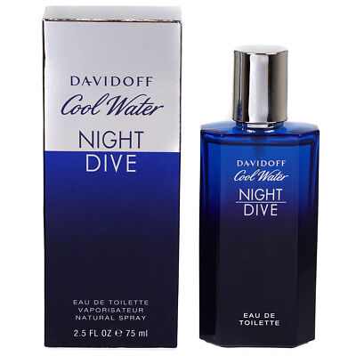 Davidoff Cool Water Night Dive Eau De Toilette For Men 75ml Brand New Sealed Box