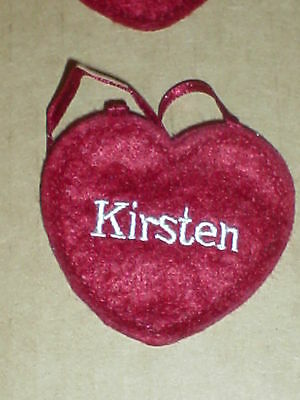 "Ornamen Ganz  NEW Red Felt Name  Embroidered  /"" JANET /"" Heart  Craft Patch"